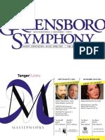 Greensboro Symphony 2016-2017 Season Brochure