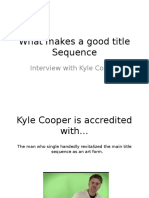 Kyle Cooper Interview Answers - Hamod