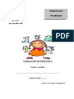 4to Grado - Tareas de Matemática. Año Escolar 2016-2017.