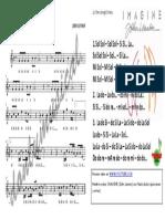 PARTITURA MUSICA 4°_ IMAGINE JONH LENNON