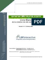 Livre Blanc de La Creation de Site Web Optimise