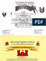 army certificates