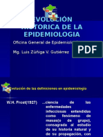 Evolución Historica de La Epidemiologia