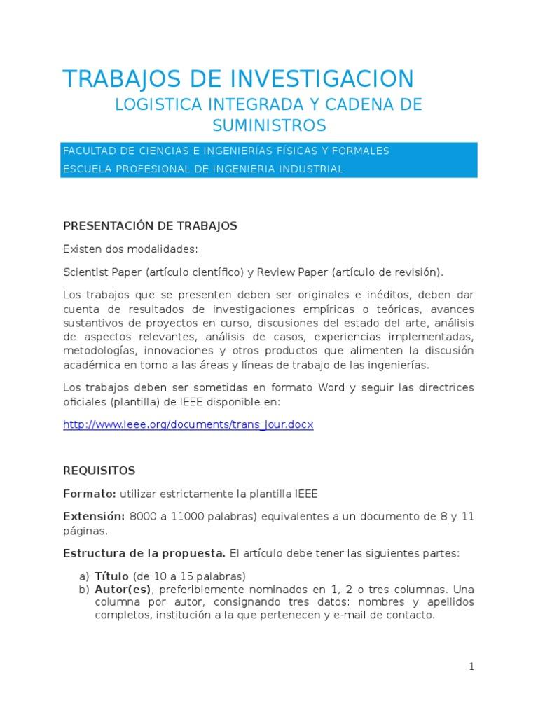 Trabajo de Investigacion Del Curso Practicas Logistica