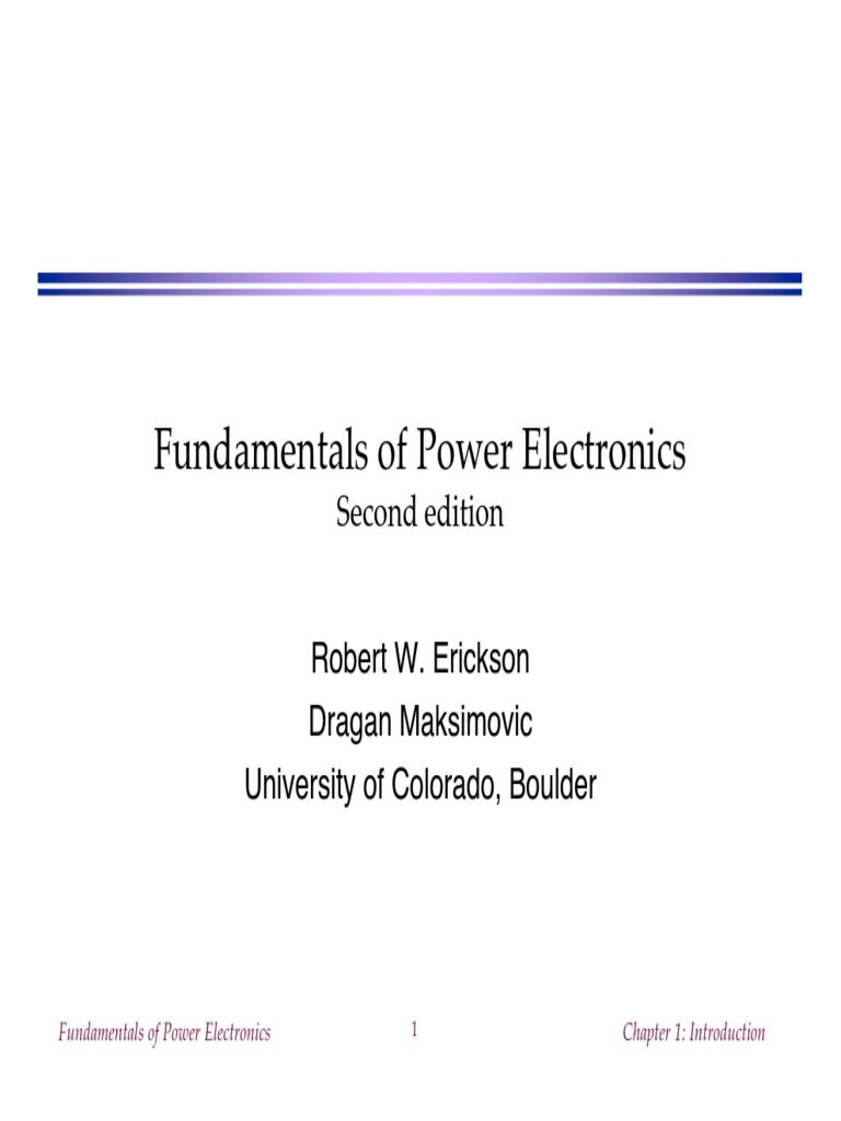 Ch1slides Pdf Power Electronics Power Inverter