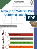 Manejo de Material Para Anatomía Patológica
