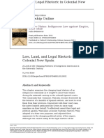 Baber (2011) Law, Land, And Legal Rhetoric