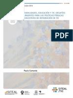 Ruralidades, Educación y TIC. Desafíos urgentes para las Políticas públicas educativas de integración de TIC. Paula Camarda