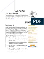 The Elgin Grade 760, 761 Service Bulletin