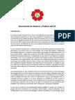 Documento de Balance y Política del FA