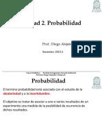 Unid 2 - Clase 5 Teoria de La Probabilidad