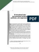 El Etnodesarrollo, Sus Premisas Jurídicas, Políticas y de Organización.-bonfil Batalla.