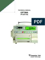 Fresenius Optima PT-ST-Vs - Service Manual