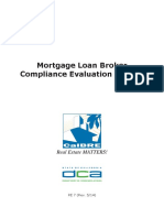 Mortgage Loan Broker Compliance Evalutation Manual 27 Pages 8-14-16
