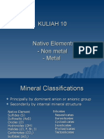 Mineral IDLecture 10 - Native Mineral