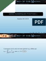 1.-Series Numeriques Reelles Positives