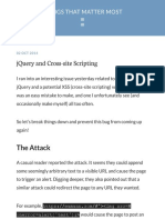 JQuery and Cross-site Scripting