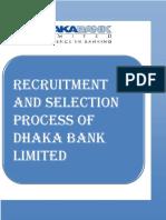 recruitment and selection process of Dhaka Bank