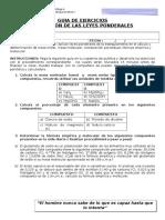 GUIA de EJERCICIOS Cálculo Masa Molecular Masa Molar Composicición Porcentual Fórmula Empirica y Molecular