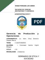 Gerencia de Producción y Operaciones 1