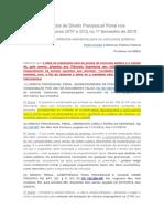 Principais Julgados de Direito Processual Penal Nos Tribunais Superiores 2015 - Semestre 1