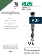 QC Powder Measure Instructions