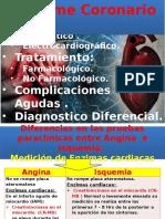UNIDAD II - Sistema Cardiovascular - Sindrome Coronario Agudo. Diagnostico Enzimatico y Electrocardiografico.tratamiento.complicaicones -UNICA-Fernanda Pineda Gea