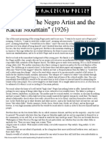 _The Negro Artist and the Racial Mountain_ (1926)