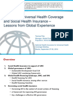 NHI4UHC Day 3 Session 5 Governing Universal Health Coverage and Social Health Insurance – Lessons from Global Experience