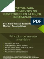Anestesia Para Procedimientos No Obstetricos en La Mujer Embarazada