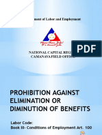 Diminution of Benefits