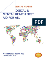 World Mental Health Day - Dignity in Mental Health Psychological & Mental Health First Aid for All