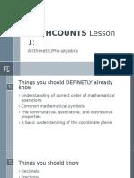 Mathcounts Lesson 1