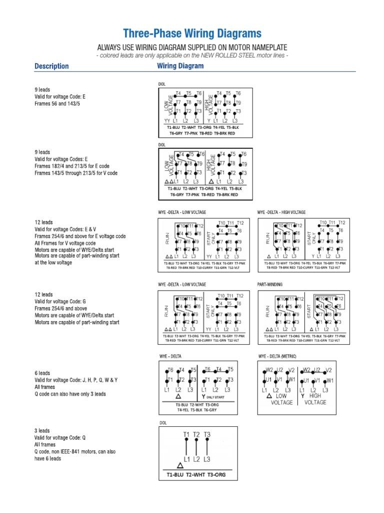 Electric Motor Wiring Diagrams Pdf