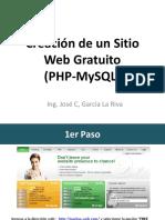 Creación de Un Sitio Web Gratuito