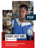 Save the Children - Report - Every Last Girl - Free to live, free to learn, free from harm
