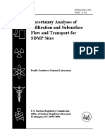 Uncertainty Analyses of Infiltration and Subsurface Flow and Transport for SDMP Sites