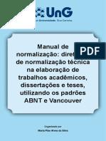Silva, Marta PIAO ALVES DA. Normas Tecnicas - Manual de Normalização - ABNT UnG