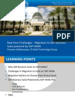 507 Real-time Challenges Migration Suite on SAP HANA V2 3 (1)