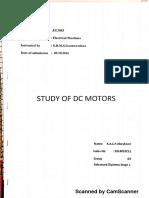 Study of Dc Motors