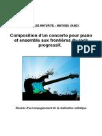 Composition d'un concerto pour piano et ensemble