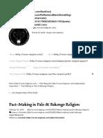 Pact-Making in Palo & Bikongo Religion