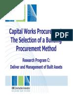Selection of a Building Procurement Method