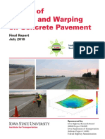 Impact of Curling and Warping on Concrete Pavement
