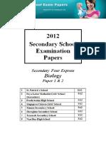 2012 Sec 4 Biology