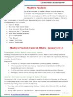 Mahdhya Pradesh Current Affairs 2016 (Jan-July)