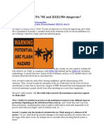 Arc Flash Are NFPA 70E and IEEE1584 Dangerous