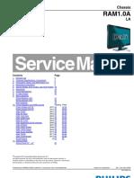 229301137 9619 Philips 32PFL3605 42PFL3605 Chassis RAM1 0A LA Televisor LCD Manual de Servicio