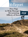 5 Tips Manage Stress
