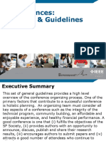 Conference Guidelines and Overview